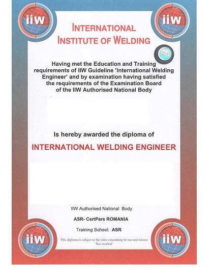 Curs pentru obţinerea calificării de Inginer Sudor Internațional / European – Oferta Speciala